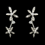 Unique Starfish style cubic zirconia cz earrings 5265