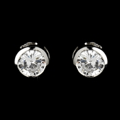 Silver Clear Stud Earring Set 2589