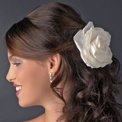 "5"" Elegant Bridal Ivory Flower Hair Clip 428"