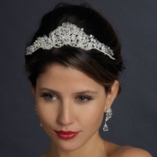 Antique Silver Clear Headpiece 702