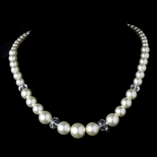 Pearl Necklace N 7361 Ivory or White