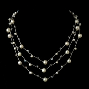 Silver Pearl Necklace 7831