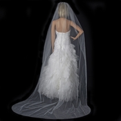 Single Layer Cathedral Length Veil with Sparkling Diffuse Rhinestone Edge 137