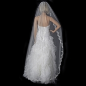 Bridal Wedding Single Layer Cathedral Length Veil 1610