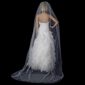 Bridal Wedding Single Layer Swarovski Rhinestone Edge Cathedral Length Veil VSW 1C