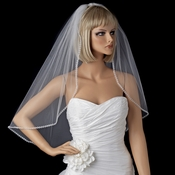 Bridal Wedding Single Layer Elbow Edge Veil 118 1E