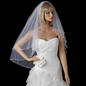 Bridal Wedding Double Layer Elbow Beaded Edge Veil 131