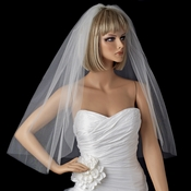 Bridal Wedding Single Layer Elbow Length Cut Edge Veil VSH C 1E