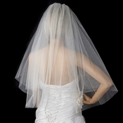 Bridal Wedding Double Layer Elbow Length Cut Edge Veil VSH C E