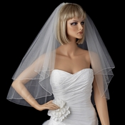 Bridal Wedding Double Layer Elbow Length Pencil Edge Veil VSH P E
