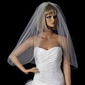 Bridal Wedding Single Layer Pencil Edge Elbow Length Veil VSH P 1E