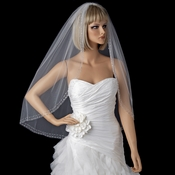 Bridal Wedding Single Layer Fingertip Length Veil 1466 1F