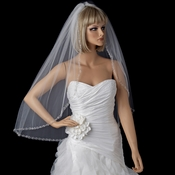 Bridal Wedding Single Layer Fingertip Length Veil 1554 1F