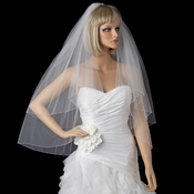 Bridal Wedding Double Layer Fingertip Length Veil 2009