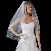 Bridal Wedding Double Layer Fingertip Length Veil 2475