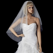 Bridal Wedding Double Layer Fingertip Length w/AB Swarovski Crystal Edge Veil 350