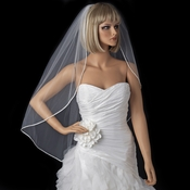 Bridal Wedding Single Layer Fingertip Length Veil 4742 1F