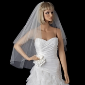Bridal Wedding Double Layer Cut Edge Fingertip Length Veil VSH C F