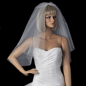 Bridal Wedding Double Layer Shoulder Length Cut Edge Veil VC S