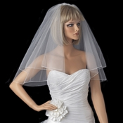 Bridal Wedding Double Layer Shoulder Length Pencil Edge Veil VP S