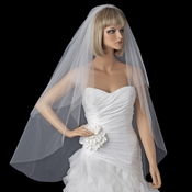 Bridal Wedding Single Waltz Length Cut Edge Veil VC W