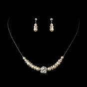 Ivory Child's Necklace Earring Set 7244