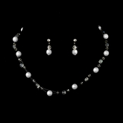 White Child's Necklace Earring Set 7247