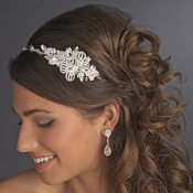 Beautiful Crystal Side Accented Bridal Headpiece Headband HP 626