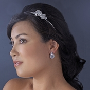 Silver Plated Swarovski Headband HP 8248