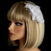 Bridal Feather Fascinator on Headband HP 8216