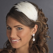 Diamond White Feather Headband Headpiece 4018