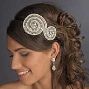 * Ivory Clear w/ Black Headband Headpiece 4026
