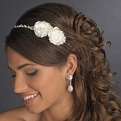 Charming Ivory Side Accented Flower Headpiece 636