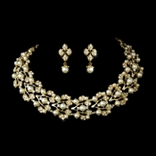 Gold Ivory Necklace Earring Set 969