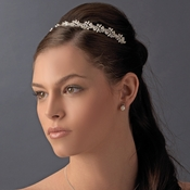 * Silver Pearl Bridal Headband HP 6388 ***5 Left***