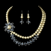 Necklace Earring Set 7250 Ivory