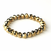 * Gold Brown 10mm Stretch Bracelet 7613