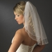 Bridal Wedding Child's Double Layer Flowergirl Veil 010 w/ Scattered Pearls & Sequence