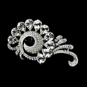 * Antique Silver Rhinestone Brooch 114