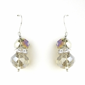 * Smoked AB Silver Clear Earring Set 7618