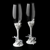 Sparkling Classic Butterfly Toasting Champagne Flutes 412
