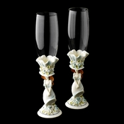 Blue 'Sweet 15' Girl Wedding Toasting Champagne Flutes