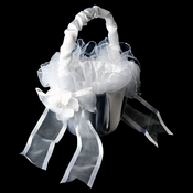 White Flower Girl Basket 0063