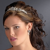 Silver Black Tiara Headpiece 8100