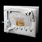 Sparkling Classic Butterfly Photo Guest Book Set 414