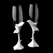 Classic Lily Toasting Champagne Flutes 400