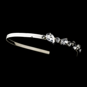* Silver Ivory Clear Headpiece 8457 (4 Left)