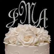 Completely Covered ~ Swarovski Crystal Monogram Cake Topper Set