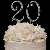 Vintage ~ 20th Anniversary, 20th Birthday Swarovski Crystal Cake Topper
