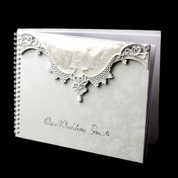 Lovely Victorian Lace Guest Book 452